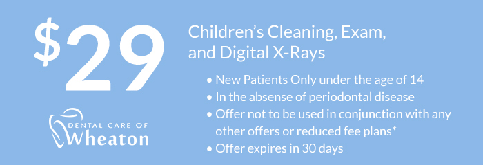 childrens cleaning exam and xrays coupon